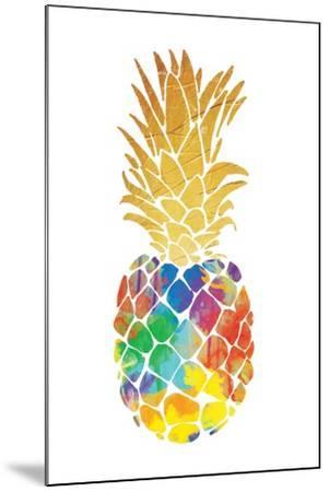 Gold Leaf Pineapple Mate-OnRei-Mounted Art Print