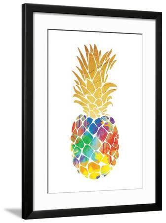 Gold Leaf Pineapple Mate-OnRei-Framed Art Print