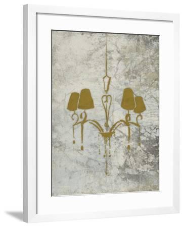 Gold Chandelier Mate-OnRei-Framed Art Print