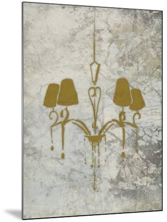 Gold Chandelier Mate-OnRei-Mounted Art Print