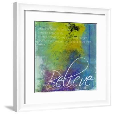 Believe-Jace Grey-Framed Art Print