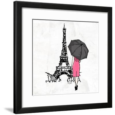 Inked Walk Away-OnRei-Framed Art Print
