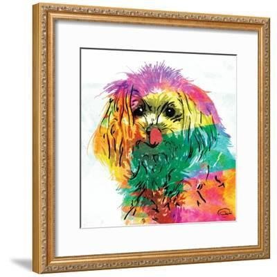 Wet Nose Rainbow-OnRei-Framed Art Print