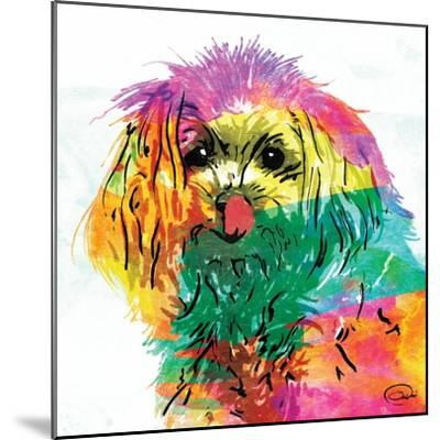Wet Nose Rainbow-OnRei-Mounted Art Print