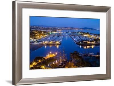 Elevated View of a Harbor, Dana Point Harbor, Dana Point, Orange County, California, USA--Framed Photographic Print