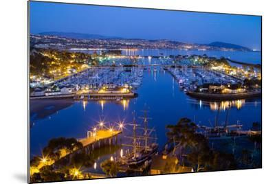 Elevated View of a Harbor, Dana Point Harbor, Dana Point, Orange County, California, USA--Mounted Photographic Print