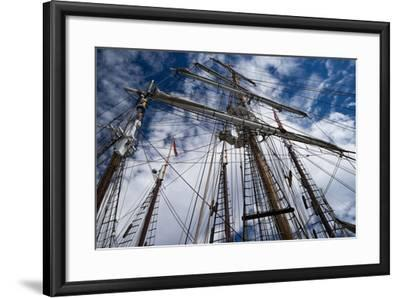Low Angle View of Mast of Sailboat, Dana Point Harbor, Dana Point, Orange County, California, USA--Framed Photographic Print