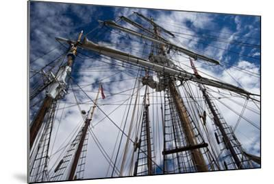 Low Angle View of Mast of Sailboat, Dana Point Harbor, Dana Point, Orange County, California, USA--Mounted Photographic Print