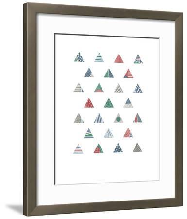 Quilted Triangles 1-Natasha Marie-Framed Art Print