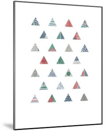 Quilted Triangles 1-Natasha Marie-Mounted Art Print