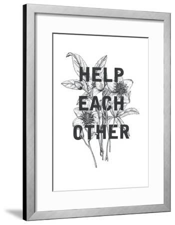 Typography no.2-Natasha Marie-Framed Art Print