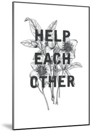 Typography no.2-Natasha Marie-Mounted Art Print