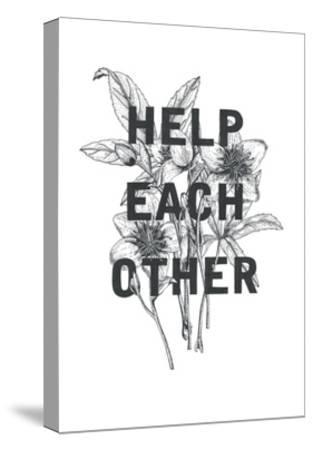 Typography no.2-Natasha Marie-Stretched Canvas Print