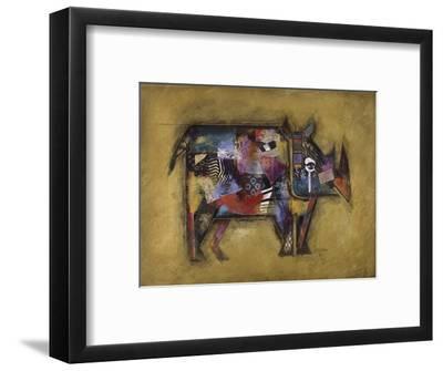 Randy the Rhino-John Douglas-Framed Art Print