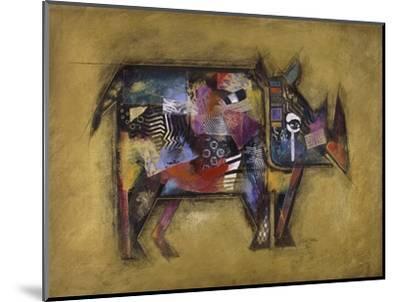 Randy the Rhino-John Douglas-Mounted Art Print