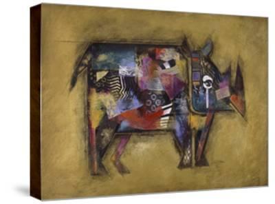 Randy the Rhino-John Douglas-Stretched Canvas Print