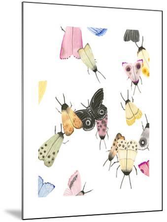 watercolor moths 2-Natasha Marie-Mounted Art Print