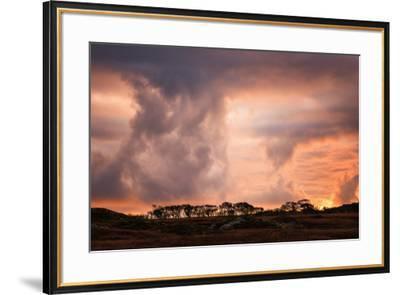 Storm clouds on the Isle of Mull, Inner Hebrides, Scotland, United Kingdom, Europe-Karen Deakin-Framed Photographic Print