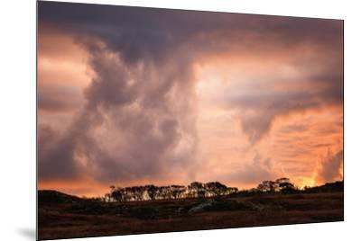 Storm clouds on the Isle of Mull, Inner Hebrides, Scotland, United Kingdom, Europe-Karen Deakin-Mounted Photographic Print