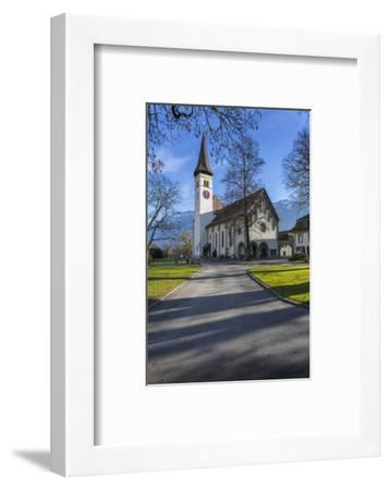 Schlosskirche Interlake, Interlaken, Jungfrau region, Bernese Oberland, Swiss Alps, Switzerland, Eu-Frank Fell-Framed Photographic Print