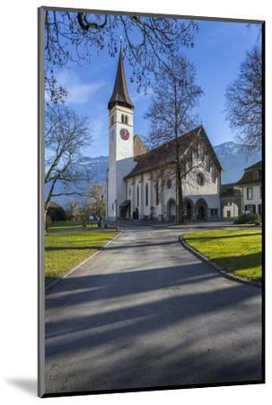 Schlosskirche Interlake, Interlaken, Jungfrau region, Bernese Oberland, Swiss Alps, Switzerland, Eu-Frank Fell-Mounted Photographic Print