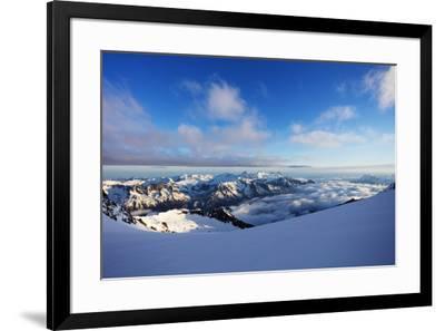 Glacier du Trient, border of Switzerland and France, Alps, Europe-Christian Kober-Framed Photographic Print