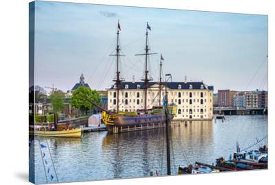 Scheepvaartmuseum, National Maritime Museum, housed in a former naval storehouse built in 1656, Ams-Jason Langley-Stretched Canvas Print
