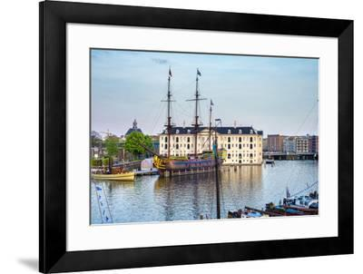 Scheepvaartmuseum, National Maritime Museum, housed in a former naval storehouse built in 1656, Ams-Jason Langley-Framed Photographic Print