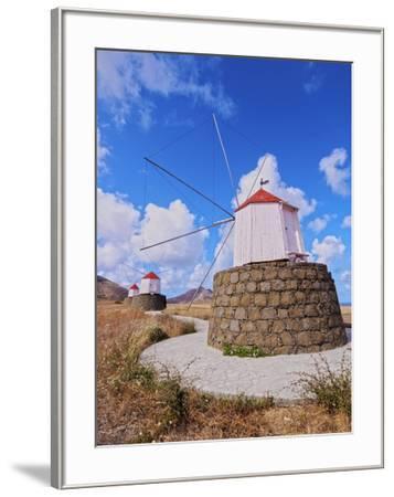 Traditional windmills of Porto Santo Island located on the way from Casinhas to Serra de Fora, Port-Karol Kozlowski-Framed Photographic Print