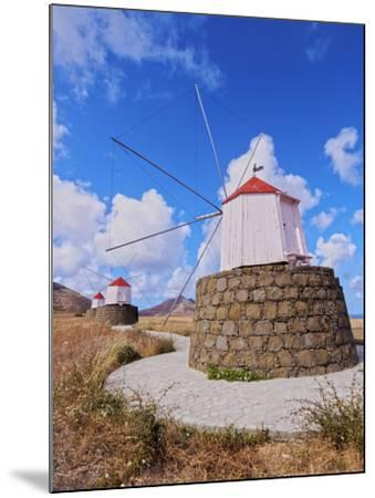 Traditional windmills of Porto Santo Island located on the way from Casinhas to Serra de Fora, Port-Karol Kozlowski-Mounted Photographic Print