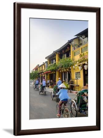 General view of shop houses and bicycles in Hoi An, Vietnam, Indochina, Southeast Asia, Asia-Alex Robinson-Framed Photographic Print