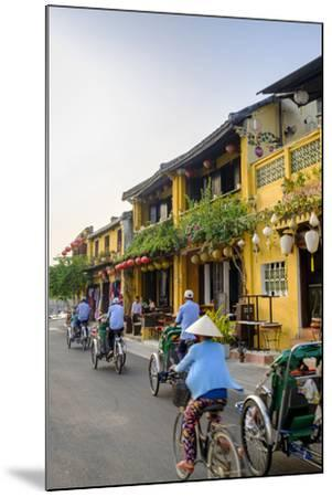 General view of shop houses and bicycles in Hoi An, Vietnam, Indochina, Southeast Asia, Asia-Alex Robinson-Mounted Photographic Print