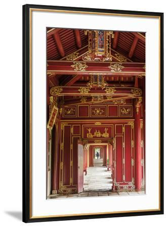 Wooden covered walkways in the Hue Imperial City (Citadel), UNESCO World Heritage Site, Vietnam, In-Alex Robinson-Framed Photographic Print