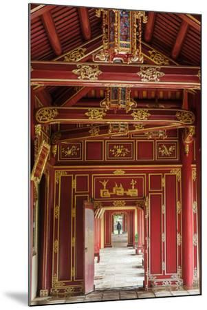 Wooden covered walkways in the Hue Imperial City (Citadel), UNESCO World Heritage Site, Vietnam, In-Alex Robinson-Mounted Photographic Print