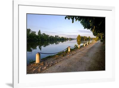 The quay along the Loire River, Chouze sur Loire, Loire Valley, UNESCO World Heritage Site, Indre e-Nathalie Cuvelier-Framed Photographic Print
