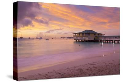Brownes Beach sunset, St. Michael, Barbados, West Indies, Caribbean, Central America-Frank Fell-Stretched Canvas Print