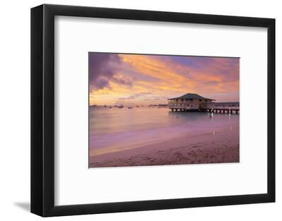 Brownes Beach sunset, St. Michael, Barbados, West Indies, Caribbean, Central America-Frank Fell-Framed Photographic Print