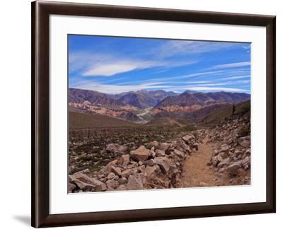 Landscape of surrounding mountains, Tilcara, Jujuy Province, Argentina, South America-Karol Kozlowski-Framed Photographic Print