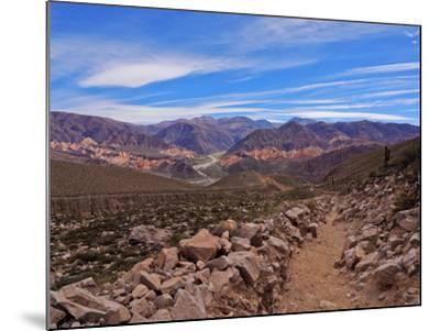 Landscape of surrounding mountains, Tilcara, Jujuy Province, Argentina, South America-Karol Kozlowski-Mounted Photographic Print