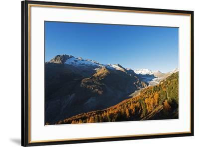 Aletsch Glacier, Jungfrau-Aletsch, UNESCO World Heritage Site, Valais, Swiss Alps, Switzerland, Eur-Christian Kober-Framed Photographic Print
