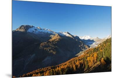 Aletsch Glacier, Jungfrau-Aletsch, UNESCO World Heritage Site, Valais, Swiss Alps, Switzerland, Eur-Christian Kober-Mounted Photographic Print