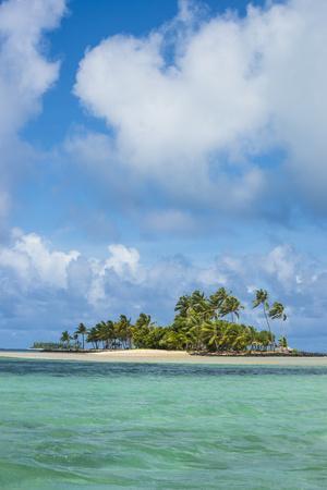 Beautiful little islet in the lagoon of Wallis, Wallis and Futuna, Pacific-Michael Runkel-Framed Photographic Print