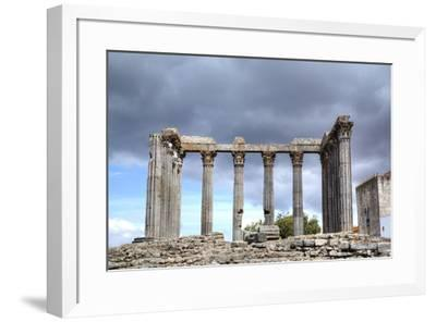 Roman Temple, Evora, UNESCO World Heritage Site, Portugal, Europe-Richard Maschmeyer-Framed Photographic Print