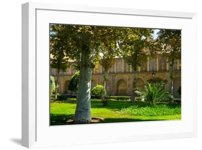 Gardens of Golestan Palace, UNESCO World Heritage Site, Tehran, Iran, Middle East-James Strachan-Framed Photographic Print