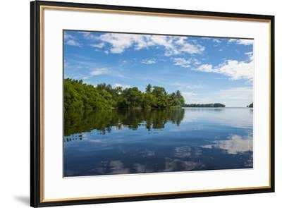 Utwe lagoon, UNESCO Biosphere Reserve, Kosrae, Federated States of Micronesia, South Pacific-Michael Runkel-Framed Photographic Print