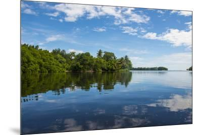 Utwe lagoon, UNESCO Biosphere Reserve, Kosrae, Federated States of Micronesia, South Pacific-Michael Runkel-Mounted Photographic Print