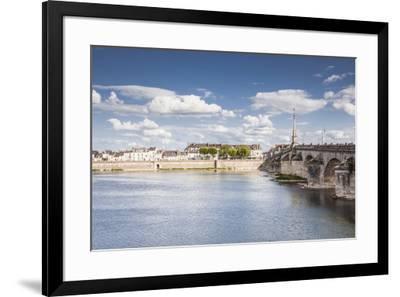 The Pont Jacques Gabriel in Blois, Loir-et-Cher, Centre-Val de Loire, France, Europe-Julian Elliott-Framed Photographic Print