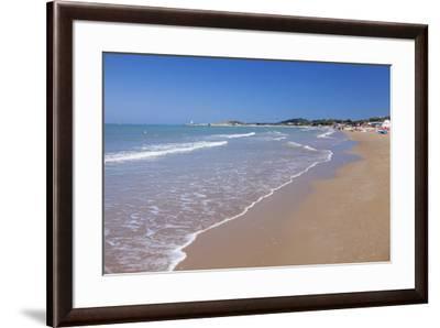 Baia di Sfinale bay, Torre di Sfinale tower, Gargano, Foggia Province, Puglia, Italy, Mediterranean-Markus Lange-Framed Photographic Print