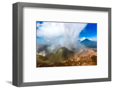 On the summit of the active Pacaya Volcano, Guatemala, Central America-Laura Grier-Framed Photographic Print