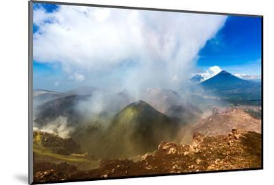 On the summit of the active Pacaya Volcano, Guatemala, Central America-Laura Grier-Mounted Photographic Print